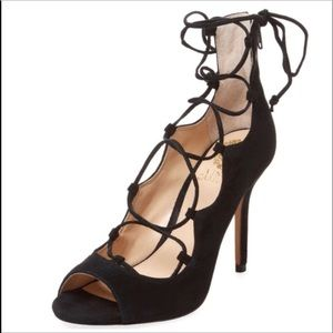 Vince Camuto Sandria Ghillie Lace up suede sandals